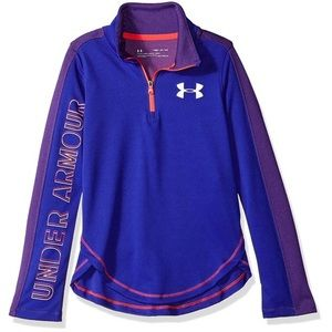 Under Armour Girls Tech 1/2 Zip Long Sleeve Top